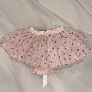 Luna and Luna tulle skirt, pink & gold stars, 12m